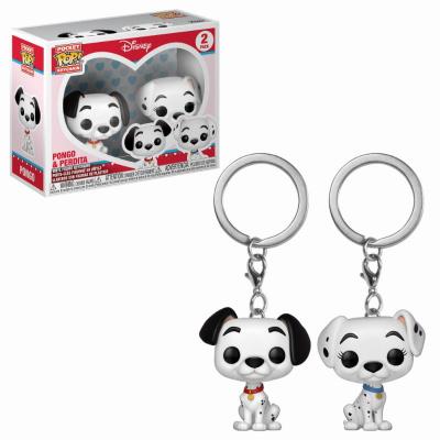 Pocket Pop Keychain: Disney 101 Dalmatians - Pongo and Perdita 2-Pack