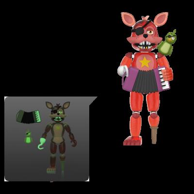 Action Figure: FNAF Pizza Sim- Rockstar Foxy (TRL)(GW)
