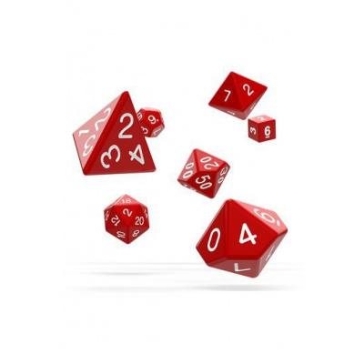 Oakie Doakie Dice RPG Set Solid - Red