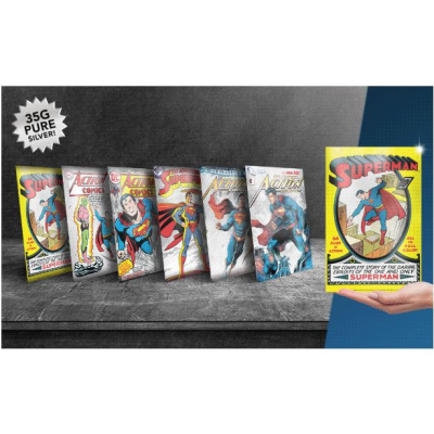 DC Comics: Superman 80th - 5g Silver Coin Note Collection