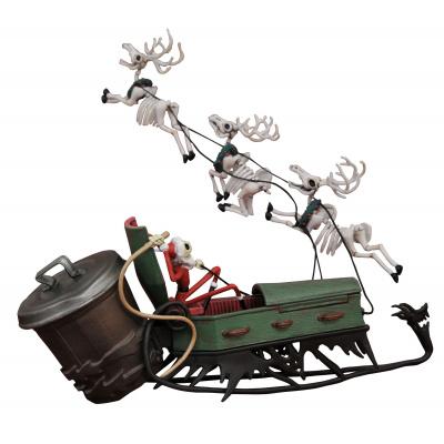 Nightmare Before Christmas: Jack in Sleigh Deluxe PVC Set