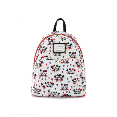 LoungeFly MICKEY AND MINNIE MOUSE LOVE AOP MINI BACKPACK
