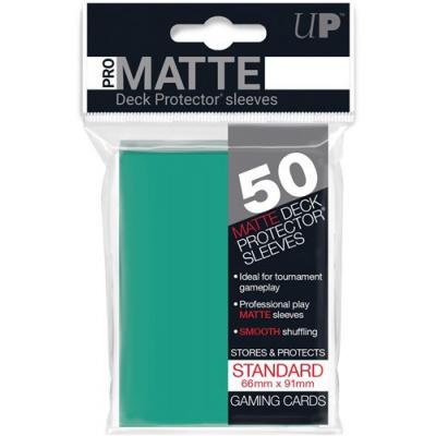 Ultra Pro-Matte Board Game Sleeves: Standard Aqua (66x91mm)