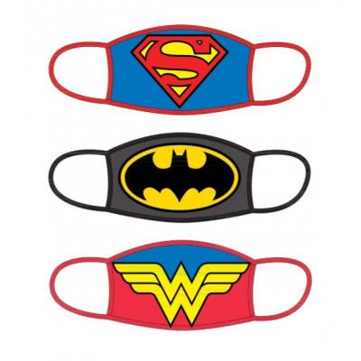 DC Comics: Standard Face Masks 3-Pack