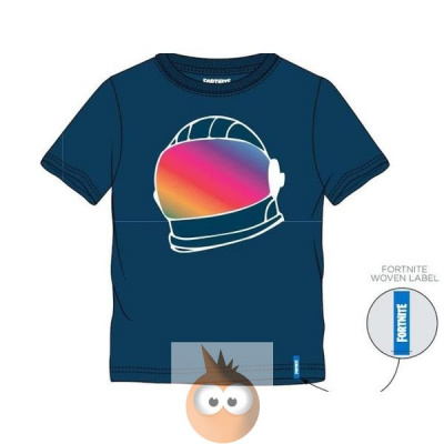 Fortnite Helmet Blue - Kids T-Shirt (140cm/10y)