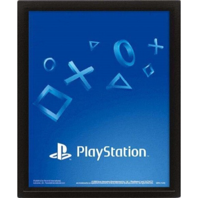 Playstation: Shapes Loose 3D Poster