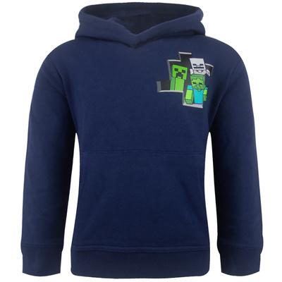 Minecraft - hooded hoodie - blue