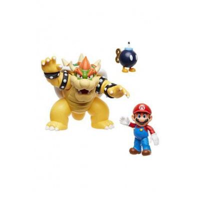 World of Nintendo pack 3 figurines Mario vs. Bowser Lava Battle 6-15 cm