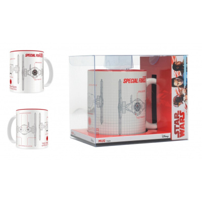 Star Wars The Last Jedi: Special Forces Blueprint White-Red Mug