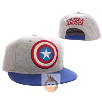 CAPTAIN AMERICA - Cap Vintage Logo Classic - Grey