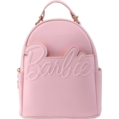 Loungefly Barbie Logo Rose Gold Chain Convertible Mini Backpack
