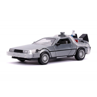 Back to the future part II DeLorean Time Machine 1/24 metal Hollywood Rides