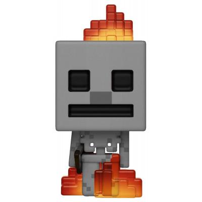 POP! Vinyl: Games: Minecraft: Skeleton w/ Fire (Exc)