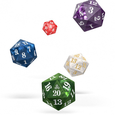 Oakie Doakie Dice set Spindown D20 Marble