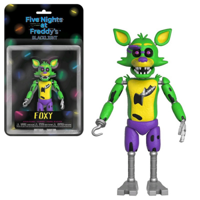 Five Nights at Freddys Foxy Black Light Action Figure