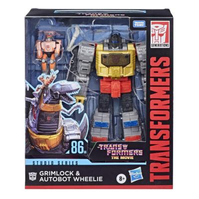 Hasbro Transformers Generations Studio Series DLX 86 Grimlock and Autobot Wheelie Action Figure