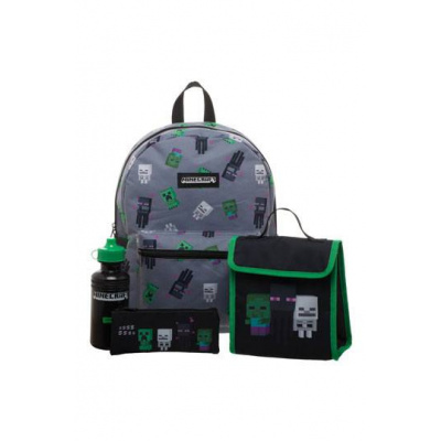 Minecraft - Back to School Backpack Set (4pieces)