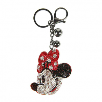 Disney 3D Acrylic Keychain Minnie Mouse Face