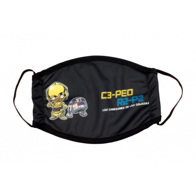 Star Wars: C-3PO and R2-D2 Cabezones Children's Face Mask