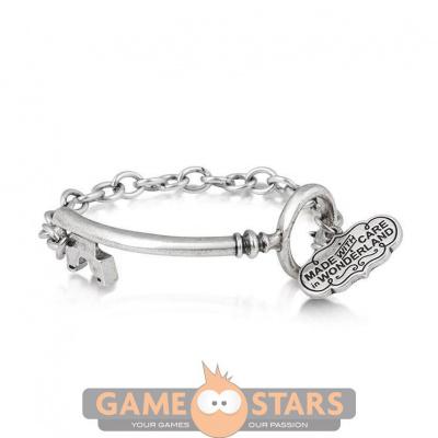 Disney Alice in Wonderland Key Bracelet (White Gold)