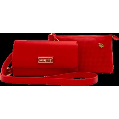 Loungefly Red Pin Trader Crossbody bag