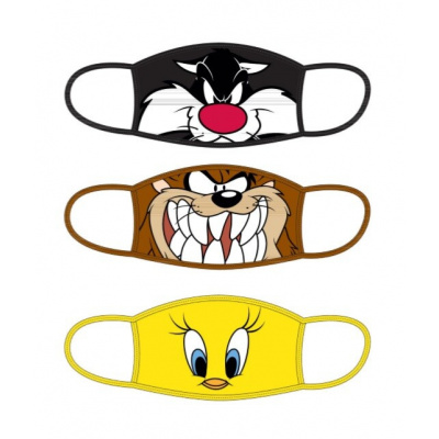 Looney Tunes: Standard Face Masks 3-Pack