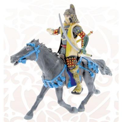 Black Horse with Blue Saddlery Figure