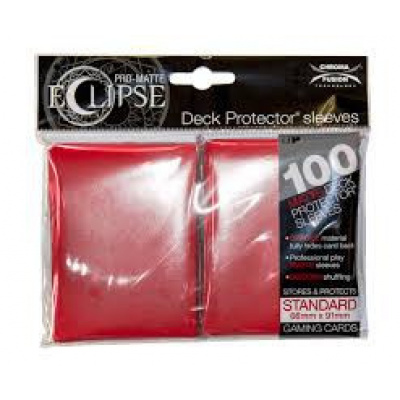 PRO-Matte Eclipse Standard Deck Protector Sleeves: Apple Red