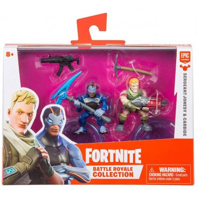 Fortnite Epic Games Battle Royale Collection Sergeant Jonesy & Carbide 2-Inch Mini Figure 2-Pack