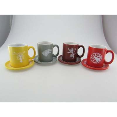 The Iron Throne set Espresso cups Logo's (Collector's Edition)