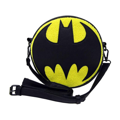 Loungefly DC Batman Chenille Canteen Crossbody Bag Purse