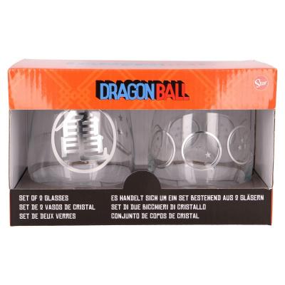 2 PCS 510 ML CRYSTAL GLASS SET DRAGON BALL