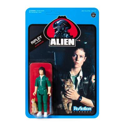 Alien: Wave 3 - Ripley with Jonesy Blue Card 3.75 inch ReAction Figure