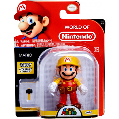 World of Nintendo Mario Maker with Utility Belt Action Figure