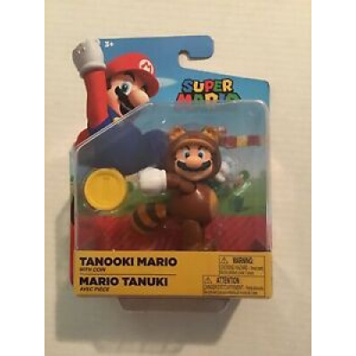 World of Nintendo ~ TANOOKI MARIO Action Figure ~ Super Mario Brothers
