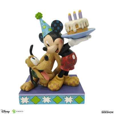 Disney: Pluto and Mickey Birthday Statue