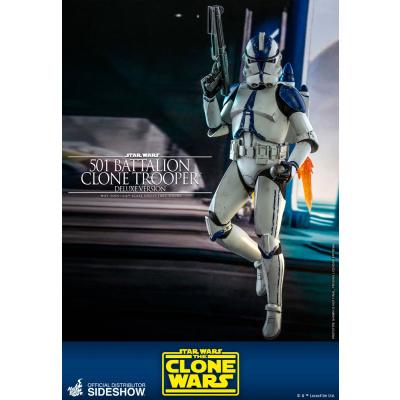 Star Wars: The Clone Wars - Deluxe 501st Battalion Clone Trooper 1:6 Scale Figure