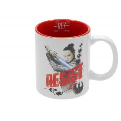 Star Wars The Last Jedi: Rey Resist White-Red Ceramic Mug