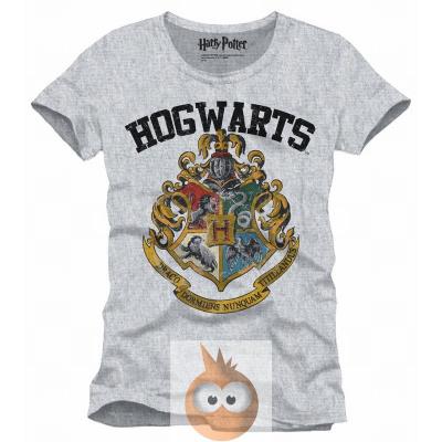 HARRY POTTER - T-Shirt Hogwarts Old School - Grey (S)