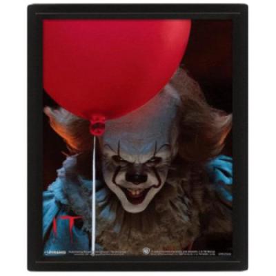 It (2017 Pennywise Flip) 3D Print - Framed