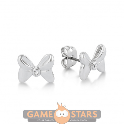 Disney Minnie Mouse Crystal Bow Studs (White Gold)