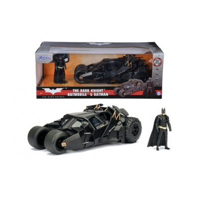 DC Comics: The Dark Knight - Batmobile and Batman 1:24 Scale Set