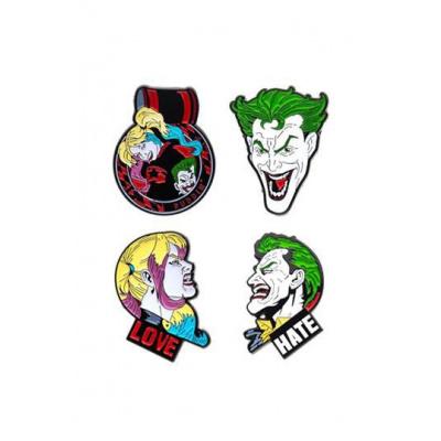 DC Comics pack 4 pin's Joker & Harley Quinn