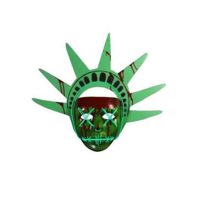 The Purge Election Year: Lady Liberty Light Up Injection Mask