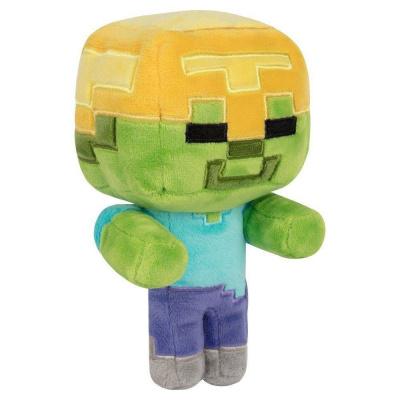 Minecraft Happy Explorer Plush Figure Gold Helmet Zombie 18 cm