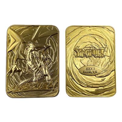 Yu-Gi-Oh! Replica Card Bue-Eyes White Dragon (gold plated)