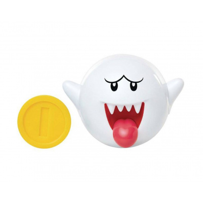 Jakks Pacific World of Nintendo Action Figure Boo with Coin 6 cm