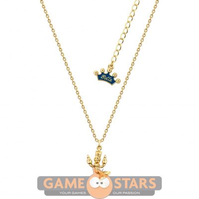 Kids Disney Beauty and the Beast Lumiere Necklace (Yellow Gold)