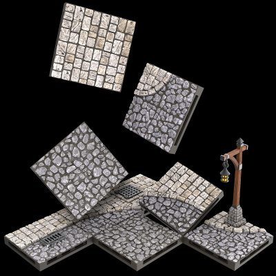 Warlock Tiles: Town and Village - Town Square