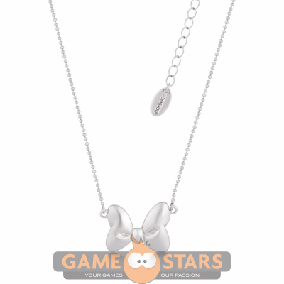 Disney Minnie White Gold-Plated Bow Ball Chain Necklace